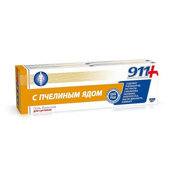 911- Гель-бальзам д/суставов (100мл/Пчелиный яд)