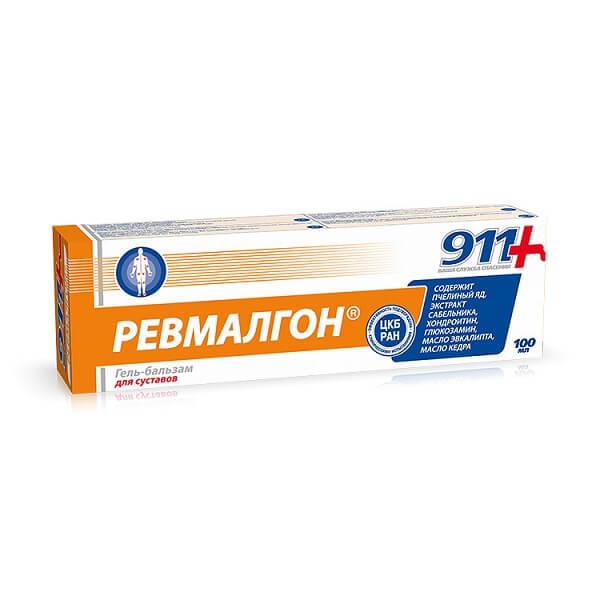 911-Ревмалгон (100мл гель-бальзам д/тела) фото