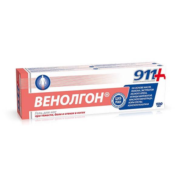 911 Венолгон гель (100мл д/ног)
