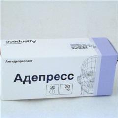 Адепресс (таб. п/о 20мг №30)