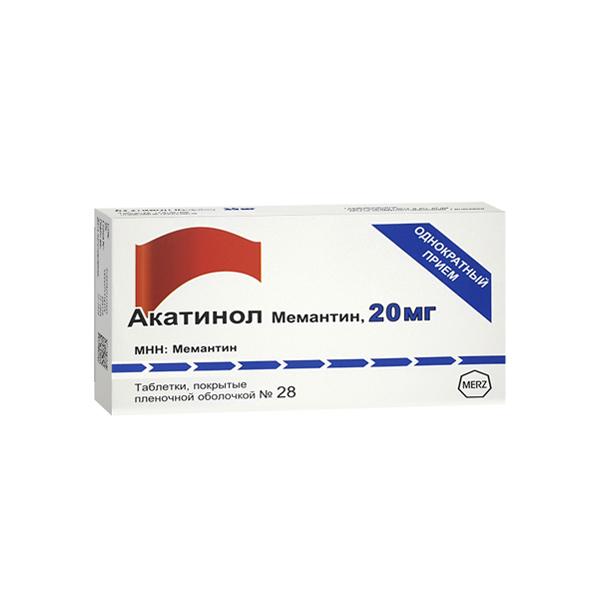 Акатинол Мемантин (таб.п.пл/об.20мг №28)
