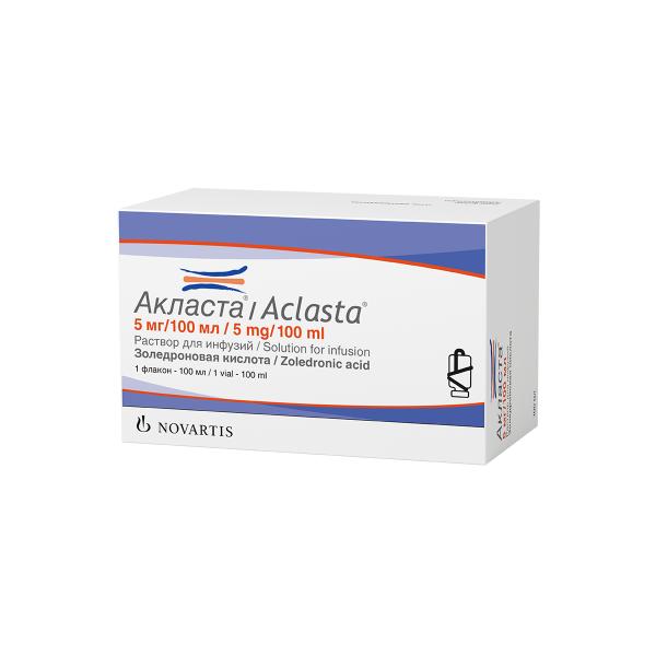 Акласта (фл. 5мг/100мл)