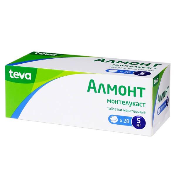 Алмонт таблетки жевательные 5мг №28 фото