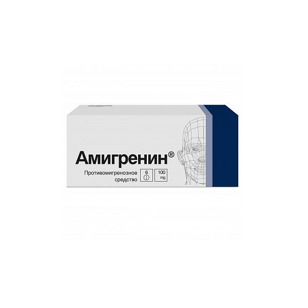 Амигренин (таб.п.пл/об.100мг №6)