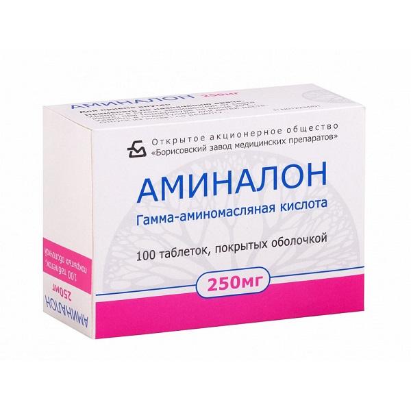 Аминалон (таб. п/о 250мг №100)