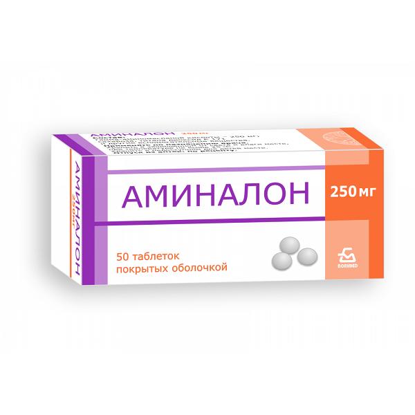 Аминалон (таб. п/о 250мг №50)