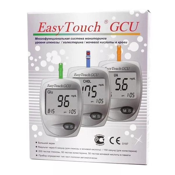 Анализатор крови  EASY TOUCH (мочевая к-та,холестерин,глюкоза)