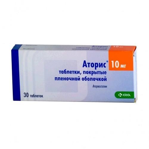 Аторис таблетки 10мг №30