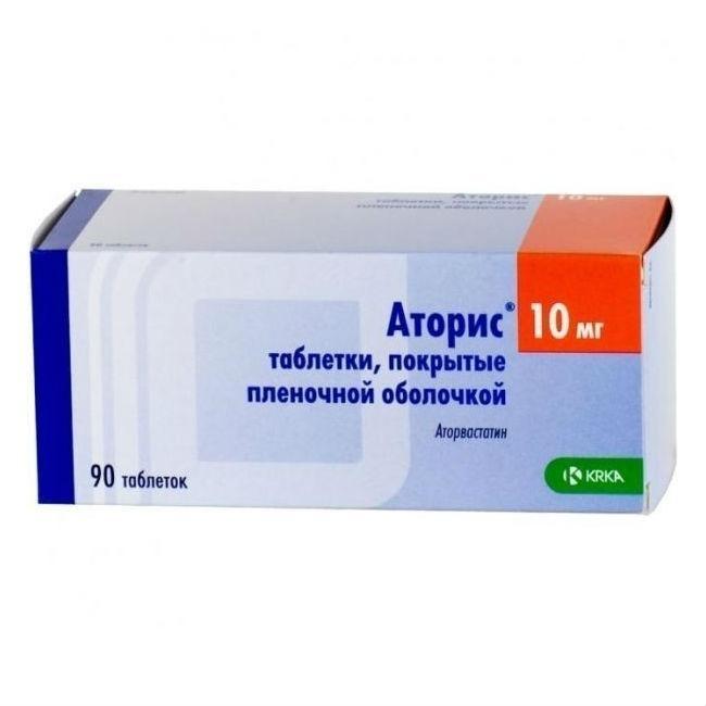 Аторис таблетки 10мг №90