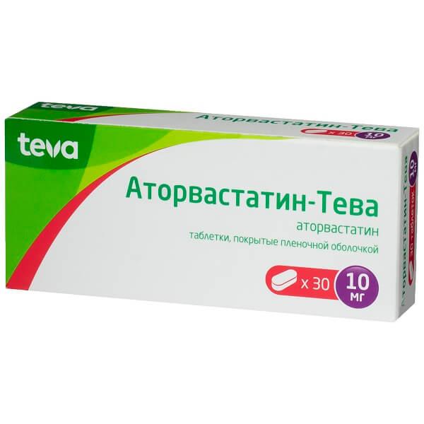 Аторвастатин-Тева (таб.п.пл/об.10мг №30)