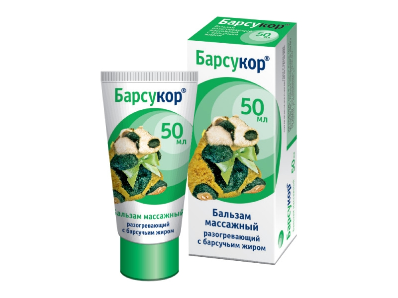 Барсукор бальзам крем д/взрослых (50мл массажный)