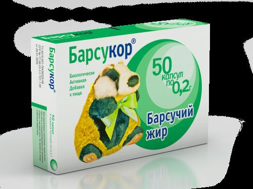 Барсукор Барсучий жир (капс. 200мг №50)