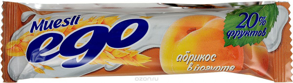 Батончик-мюсли ЭГО (25г (абрикос в йогурте))