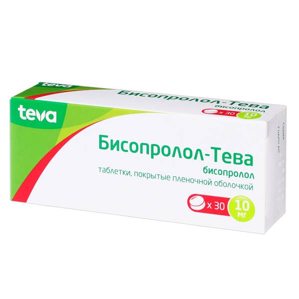 Бисопролол-Тева (таб.п.пл/об.10мг №30)