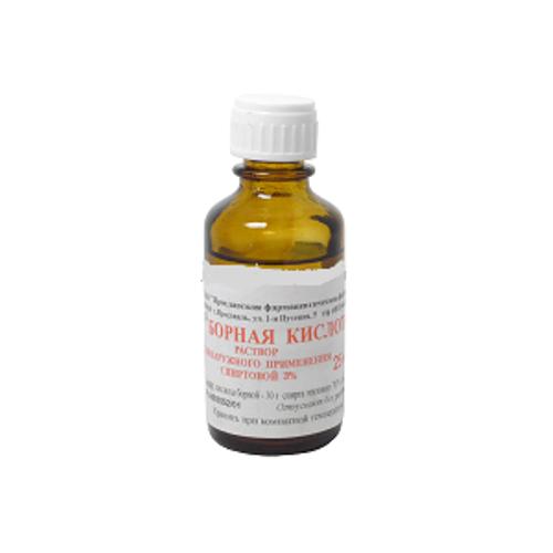 Борная кислота (р-р спирт. 3% 10мл)