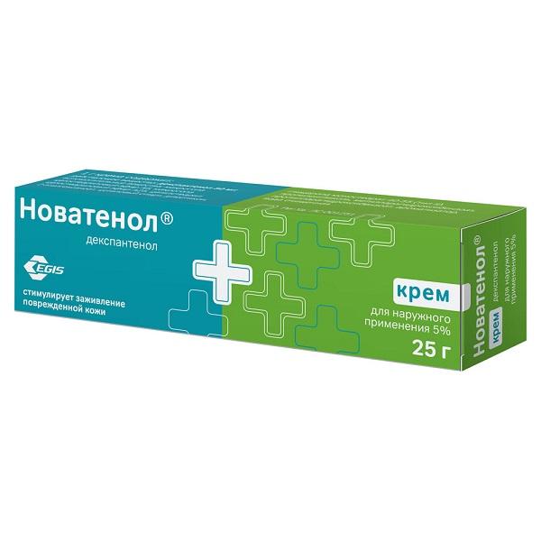 Д-пантенол Новатенол крем 5% 25г