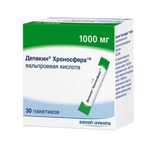 Депакин-Хроносфера гранулы пролонгированного действия пакетики 1000мг №30
