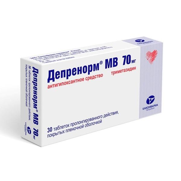 Депренорм МВ таблетки пролонгированного действия 70мг №30