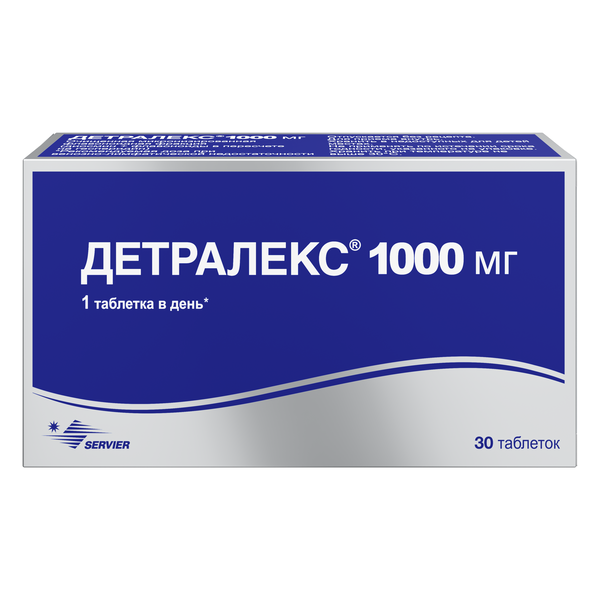 Детралекс таблетки 1000мг №30