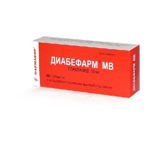 Диабефарм МВ (таб. 30мг №60)