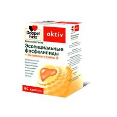 Доппельгерц Актив Эссенциальные фосфолипиды+витамины группы В капсулы 1070мг №60
