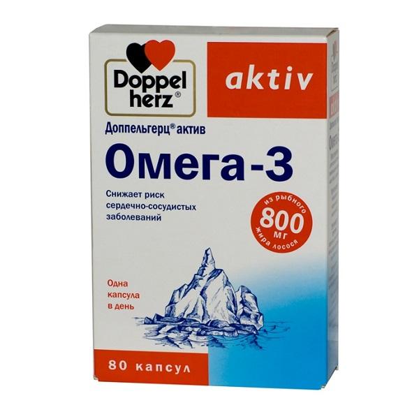 Доппельгерц Актив Омега-3 капсулы №80