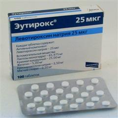 Эутирокс (таб. 25мкг №100)