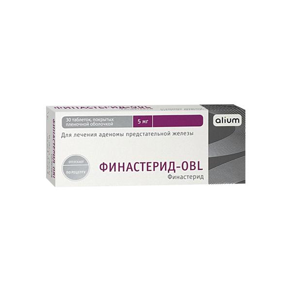 Финастерид-ОБЛ таблетки 5мг №30