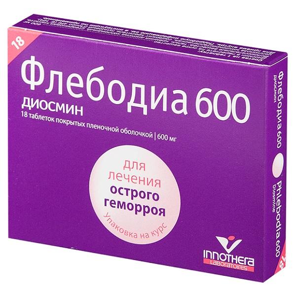 Флебодиа таблетки 600мг №18