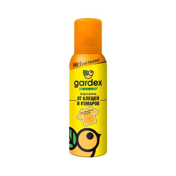 Гардекс baby аэрозоль (арт.0148 от клещей и комаров на одежду 100мл)