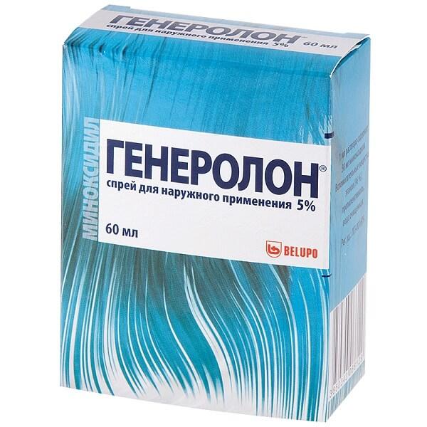 Генеролон спрей (д/нар. прим. 5% фл. 60мл)