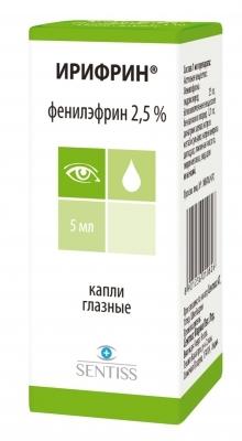 Ирифрин (гл. капли 2,5% 5мл)