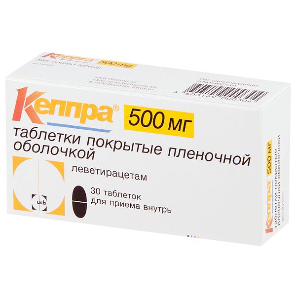 Кеппра (таб. п/о 500мг №30)