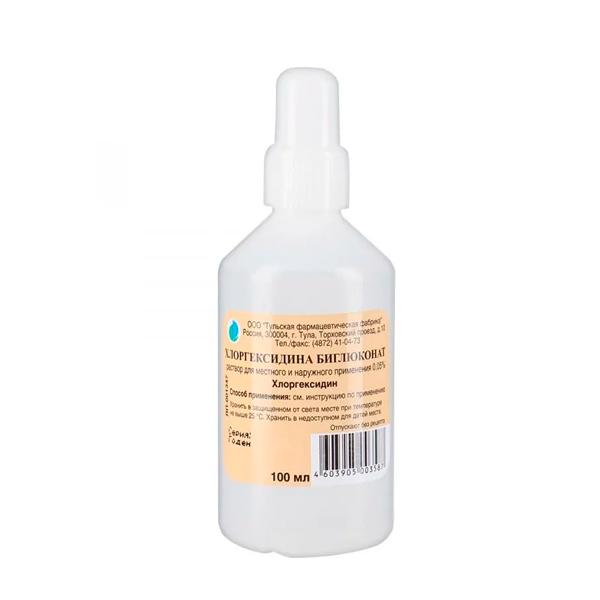 Хлоргексидина биглюконат 0,05% 100мл
