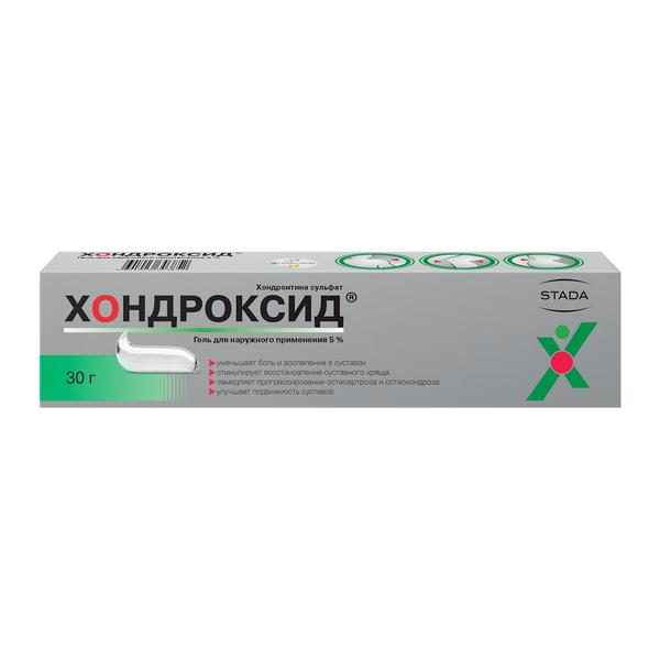Хондроксид гель (туба 5% 30г) фото