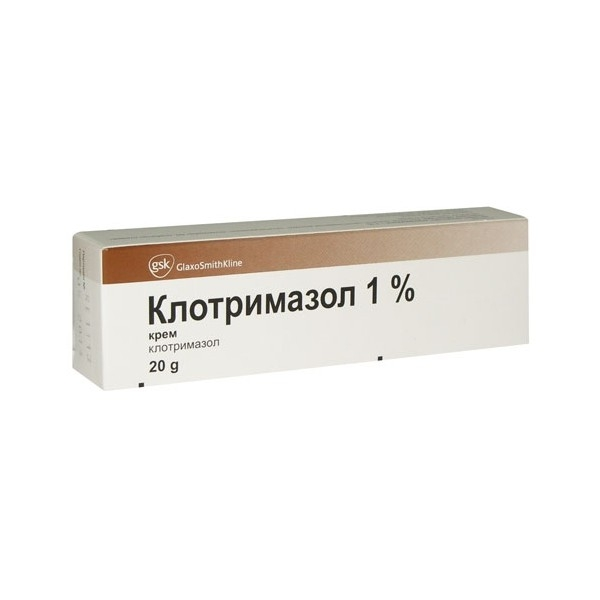 Клотримазол крем (туба 1% 20г)