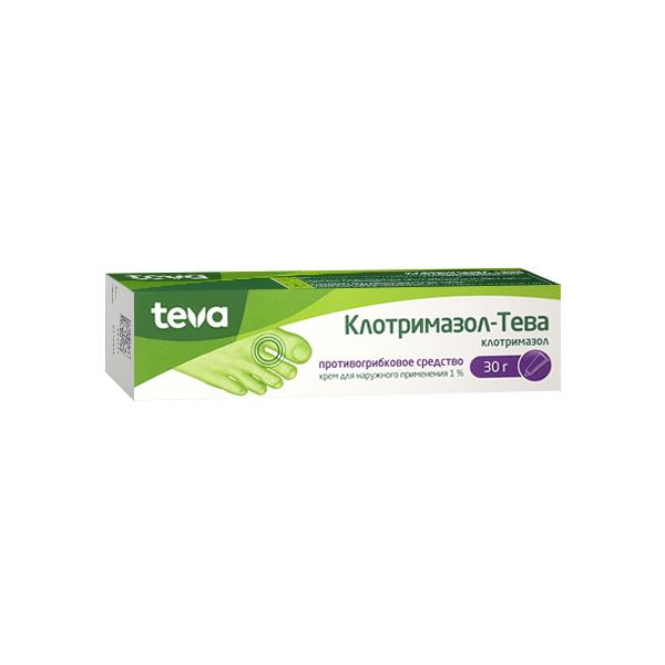 Клотримазол-Тева крем (туба 1% 30г)