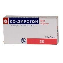 Ко-Диротон (таб. 10мг+12,5мг №30)