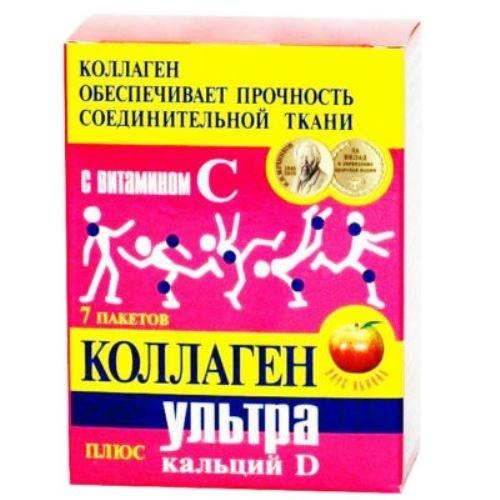 Коллаген ультра плюс пакетики 8г №7 кальций-D яблоко