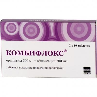 Комбифлокс (таб.п/о 500мг+200мг №20)
