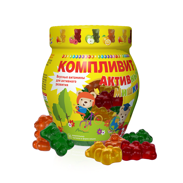 Компливит Активные Мишки (паст. жев. №30)