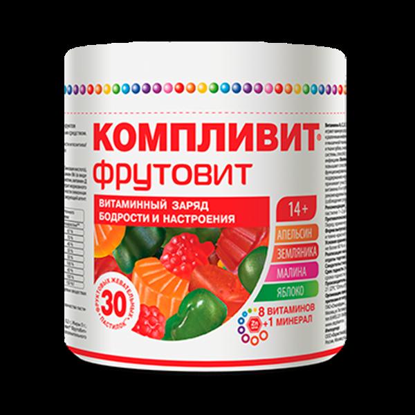 Компливит ФрутоВит жевательные конфеты №30