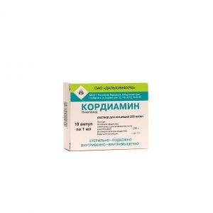 Кордиамин (амп. 25% 1мл №10)
