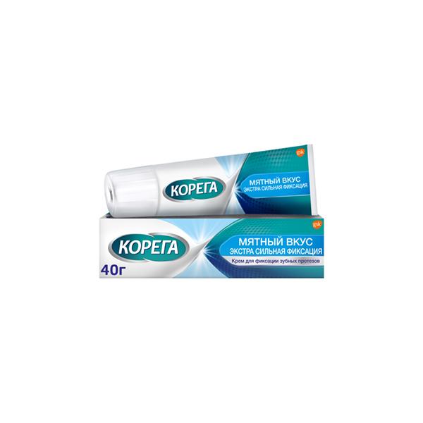 Корега Extra Strong крем (д/зуб. протезов экстра сильный мятный 40г)