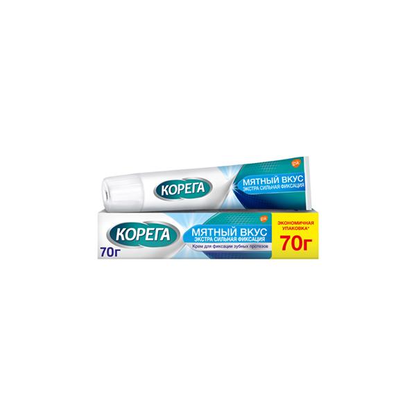 Корега Extra Strong крем (д/зуб. протезов экстра сильный мятный 70г)