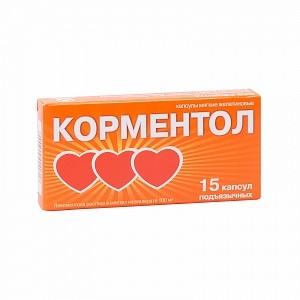 Корментол (капс. 100мг №15)
