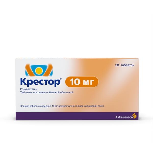 Крестор таблетки 10мг №28