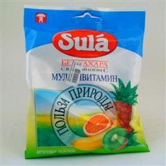 Леденцы Sula б/сахара 60г (пак.) (мультивит.)