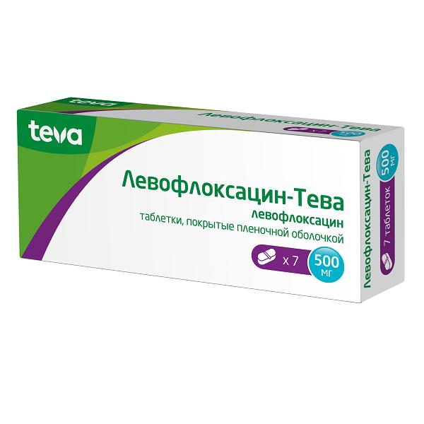 Левофлоксацин-Тева таблетки 500мг №7
