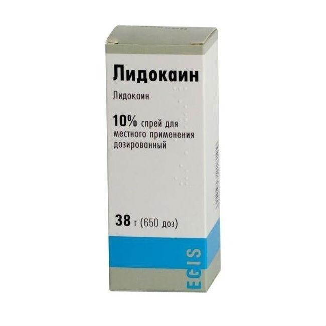 Лидокаин (спрей 10% 38г).